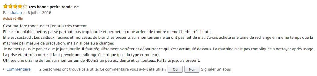 Einhell_GE_EM_1233_tondeuse_electrique_meilleur_commentaire_client_amazon