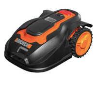 Robot Tondeuse à gazon noir et orange worx Landroid WG796E