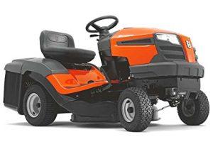 tracteur tondeuse orange Husqvarna